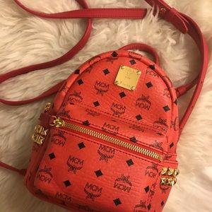 MCM x-mini Stark backpack (Ruby Red)